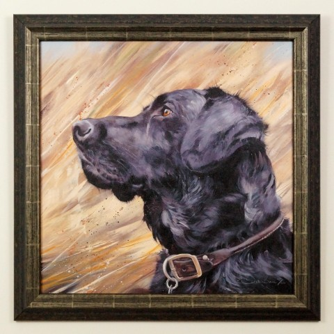 Labrador in Reeds by Debbie Boon