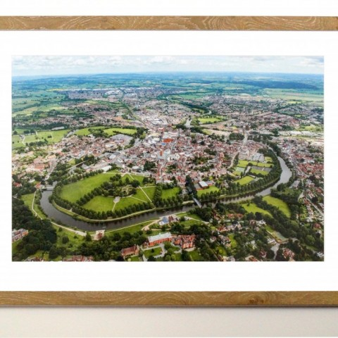 Shrewsbury Aerial View by Steve Hammond