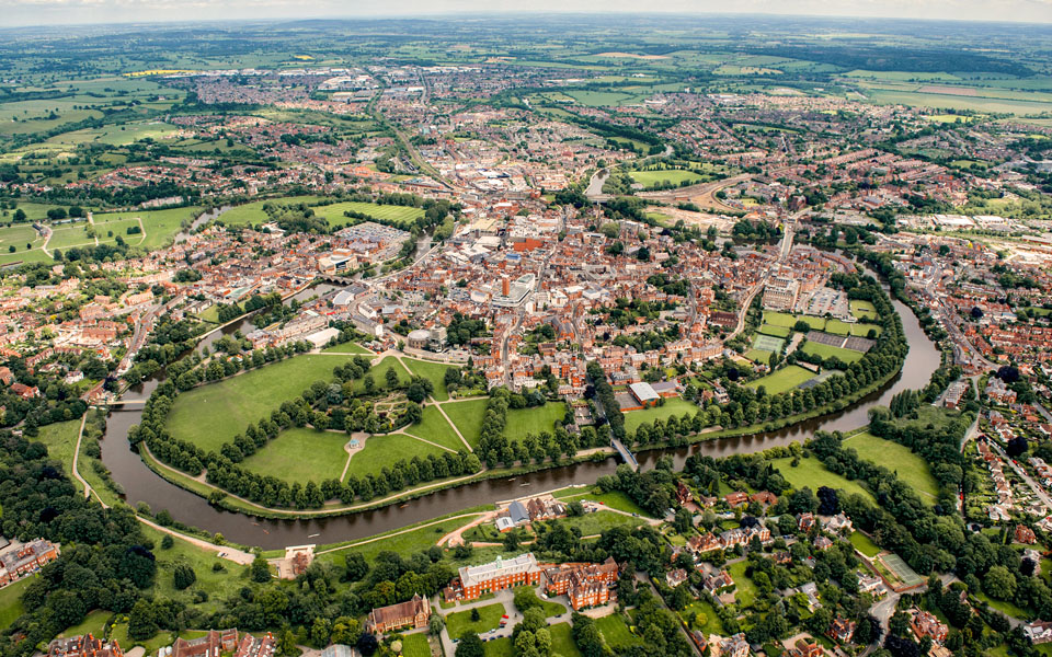 art-framing-shrewsbury-aerial-by-steve-hammond-960x600